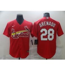 Men Nike St.Louis Cardinals Nolan Arenado 28 Red Nike Cool Base Jersey