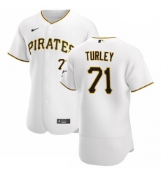 Pittsburgh Pirates 71 Nik Turley Men Nike White Home 2020 Authentic Player MLB Jersey