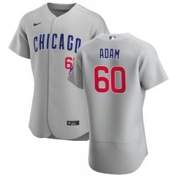 Men Chicago Cubs 60 Jason Adam Men Nike Gray Road 2020 Flex Base Team Jersey