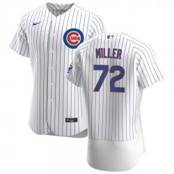 Men Chicago Cubs 72 Tyson Miller Men Nike White Home 2020 Flex Base Player Jersey