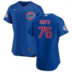 Men Chicago Cubs 75 Miguel Amaya Men Nike Royal Alternate 2020 Flex Base Player Jersey