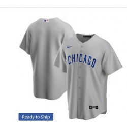 Men Chicago Cubs Nike Gray Blank Jersey