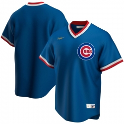 Men Chicago Cubs Nike Road Cooperstown Collection Team MLB Jersey Royal