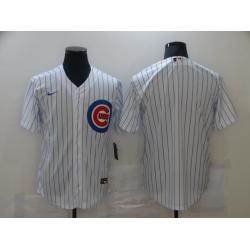 Men Chicago Cubs Nike White Blank Jersey