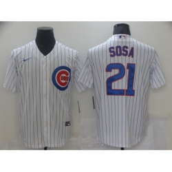 Men Nike Chicago Cubs Sammy Sosa 21 Authentic Royal White Cool Base Jersey