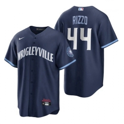 Mens Cubs Wrigleyville Anthony Rizzo Navy City Connect Replica Jersey