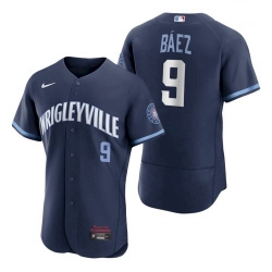 Men's Cubs Wrigleyville Javier Baez City Connect Authentic Jersey
