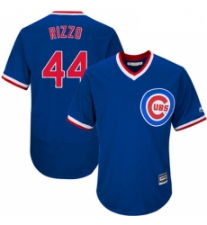 Mens Majestic Chicago Cubs 44 Anthony Rizzo Royal Blue Flexbase Authentic Collection Cooperstown MLB Jersey