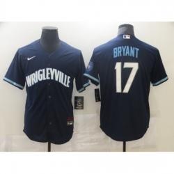 Men's Nike Chicago Cubs #17 Kris Bryant Navy Royal Alternate Stitched Baseball Jersey