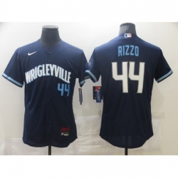 Men's Nike Chicago Cubs #44 Anthony Rizzo Navy Royal Alternate Stitched Jersey