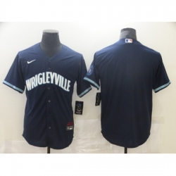 Men's Nike Chicago Cubs Blank Navy Royal Alternate Stitched Baseball Jersey