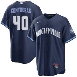 Men's Willson Contreras Chicago Cubs Wrigleyville City Connect Jersey