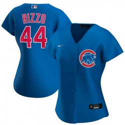 Chicago Cubs 44 Anthony Rizzo Nike Women Alternate 2020 MLB Player Jersey Royal
