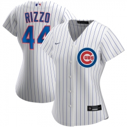 Chicago Cubs 44 Anthony Rizzo Nike Women Home 2020 MLB Player Jersey White