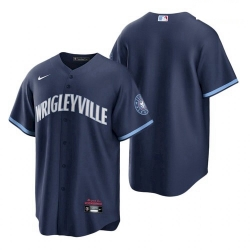 Youth Chicago Cubs Wrigleyville Navy 2021 City Connect Replica Jersey