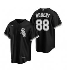 Men Chicago White Sox 88 Luis Robert Black 2020 Nike Cool Base Jersey