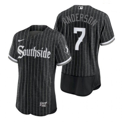 Men's Chicago White Sox Southside Tim Anderson 2021 City Connect Jersey
