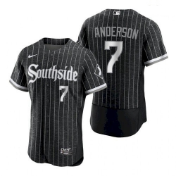 Men's Chicago White Sox Tim Anderson 2021 City Connect Southside Jersey