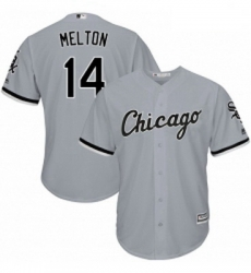 Mens Majestic Chicago White Sox 14 Bill Melton Grey Road Flex Base Authentic Collection MLB Jersey