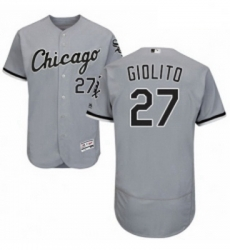 Mens Majestic Chicago White Sox 27 Lucas Giolito Grey Road Flex Base Authentic Collection MLB Jersey