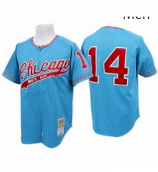 Mens Mitchell and Ness Chicago White Sox 14 Bill Melton Replica Blue Throwback MLB Jersey