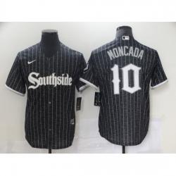 Men's Nike Chicago White Sox #10 Yoan Moncada Black Alternate Jersey