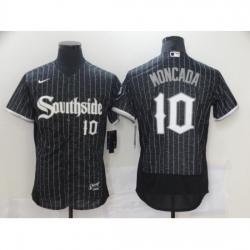 Men's Nike Chicago White Sox #10 Yoan Moncada Black Alternate Stitched Jersey
