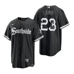 Men's White Sox Southside Jake Lamb Black 2021 City Replica Jersey