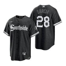 Men's White Sox Southside Leury Garcia Black City Connect Replica Jersey