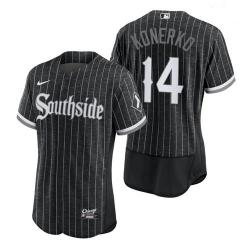 Men's White Sox Southside Paul Konerko City Connect Authentic Jersey