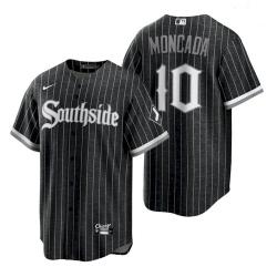 Men's White Sox Yoan Moncada 2021 City Connect Black Southside Jersey