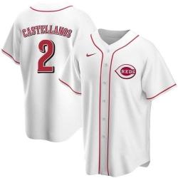 Men Cincinnati Reds 2 Nick Castellanos White 2021 Replica Home Jersey