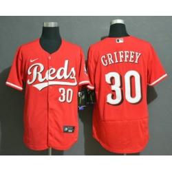 Men Cincinnati Reds 30 Ken Griffey Jr Red Stitched MLB Flex Base Nike Jersey