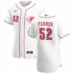 Men Cincinnati Reds 52 Kyle Farmer Men Nike White Home 2020 Flex Base Player MLB Jersey