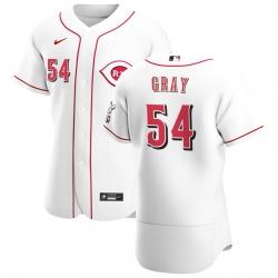 Men Cincinnati Reds 54 Sonny Gray Men Nike White Home 2020 Flex Base Player MLB Jersey