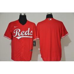 Men Cincinnati Reds Blank Red Stitched MLB Cool Base Nike Jersey