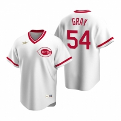 Mens Nike Cincinnati Reds 54 Sonny Gray White Cooperstown Collection Home Stitched Baseball Jersey