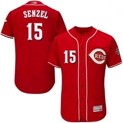 Reds 15 Nick Senzel Red Flexbase Authentic Collection Stitched Baseball Jersey