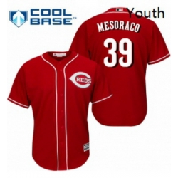 Youth Majestic Cincinnati Reds 39 Devin Mesoraco Replica Red Alternate Cool Base MLB Jersey