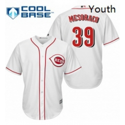 Youth Majestic Cincinnati Reds 39 Devin Mesoraco Replica White Home Cool Base MLB Jersey