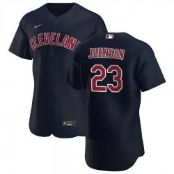 Men Cleveland Indians 23 Daniel Johnson Men Nike Navy Alternate 2020 Flex Base Player MLB Jersey