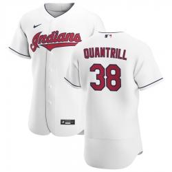 Men Cleveland Indians 38 Cal Quantrill Men Nike White Home 2020 Flex Base Team MLB Jersey