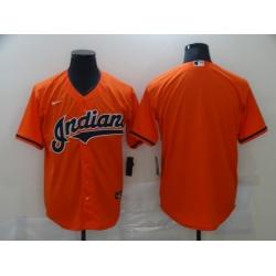 Men Cleveland Indians Nike Orange Blank Jersey