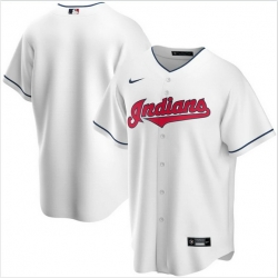 Men Cleveland Indians Nike White Blank Jersey