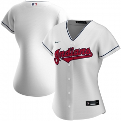Cleveland Indians Nike Women Home 2020 MLB Team Jersey White