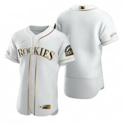 Colorado Rockies Blank White Nike Mens Authentic Golden Edition MLB Jersey
