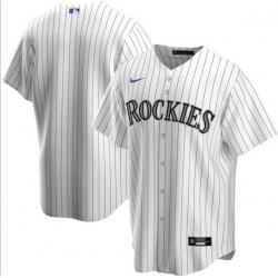 Men Colorado Rockies Nike White Blank Jersey