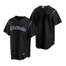 Mens Nike Colorado Rockies Blank Black Alternate Stitched Baseball Jersey