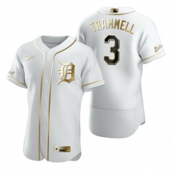 Detroit Tigers 3 Alan Trammell White Nike Mens Authentic Golden Edition MLB Jersey