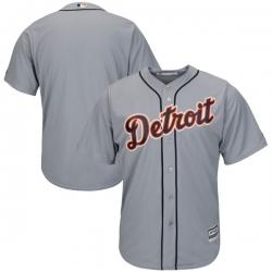 MLB Tigers Blank Grey Blank Cool Base Men Jersey